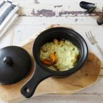 Gegratineerde mosselen met kerrie en wasabi