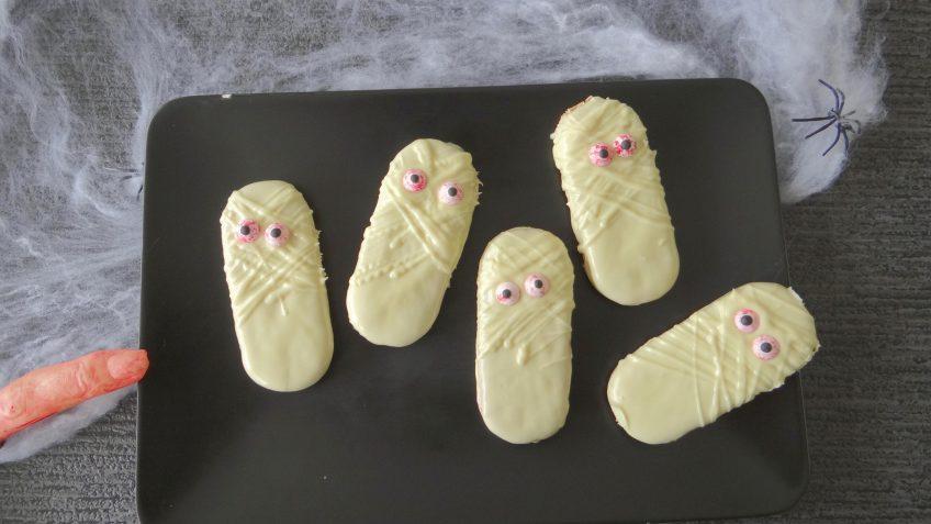 Halloween mummie koekjes
