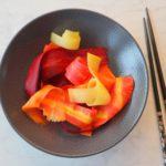 Zoetzuur van gekleurde wortelen