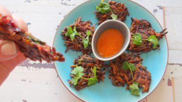 Bahji van gekleurde wortelen