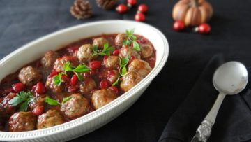 Gehaktballetjes in cranberrysaus