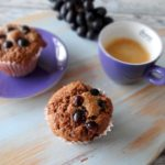 Chocolade muffins met druiven