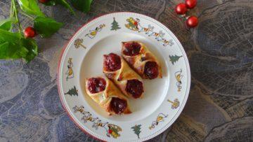 Cranberry amandelspijs taartjes