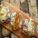 In de oven gepofte aardappelen met 3 toppings