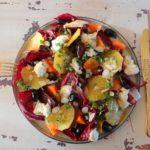 Radicchiosalade met biet, wortel en mozzarella