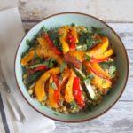 Parelcouscous met geroosterde pompoen en groenten