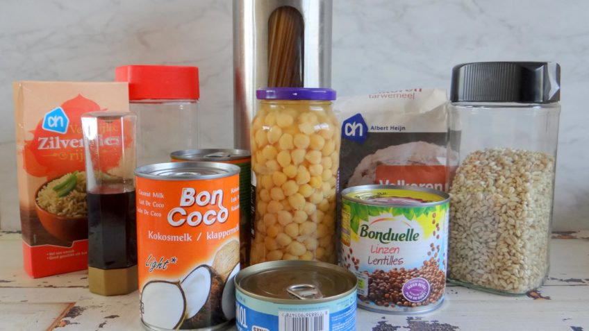 Gezonde voorraad in je keukenkastjes