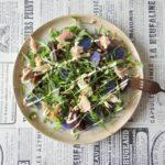 Salade forel, truffelaardappel en biet