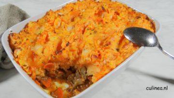 Shepherd's Pie met zoete aardappelpuree