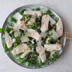 Baby boerenkoolsalade met kipfilet