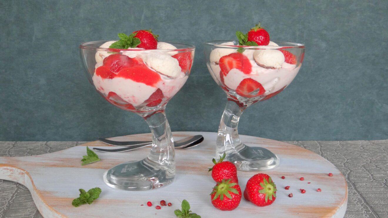 Aardbeien Coupe Romanoff