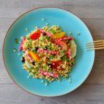 Lauwwarme parelcouscous salade met bietjes