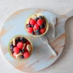 Mini watermeloen met vers fruit