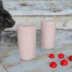 Aardbeien yoghurtdrank