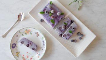 Blauwe bessen cheesecake parfait