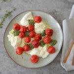 Geroosterde tomaten Caprese salade