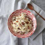 Koolrabi salade met peer, dadels en walnoten