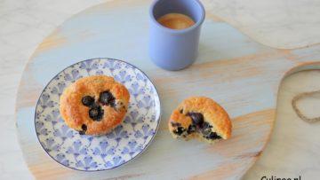 Blauwe bessen citroen yoghurtmuffins