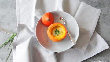 Geroosterde pompoen en appel soep