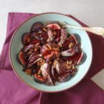 Geroosterde radicchio en bieten met vijgen