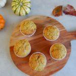 Pompoenmuffins met kokos en walnoten