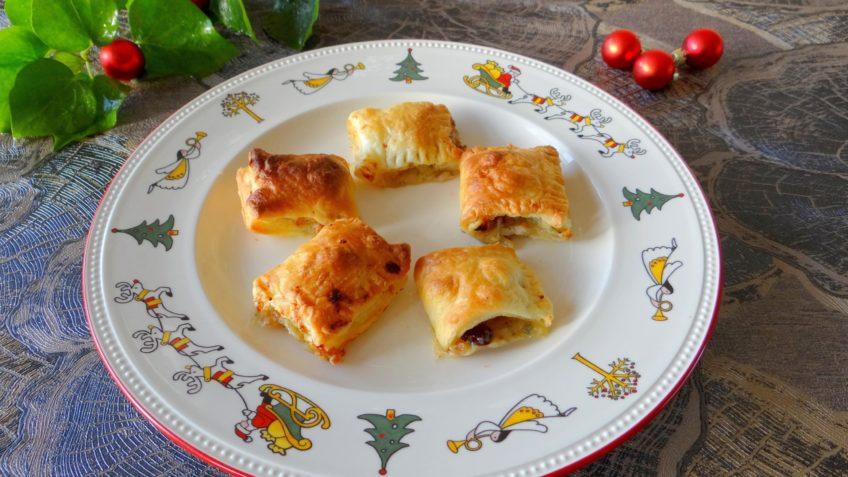 Saucijsjes van blauwe kaas, walnoten en cranberries