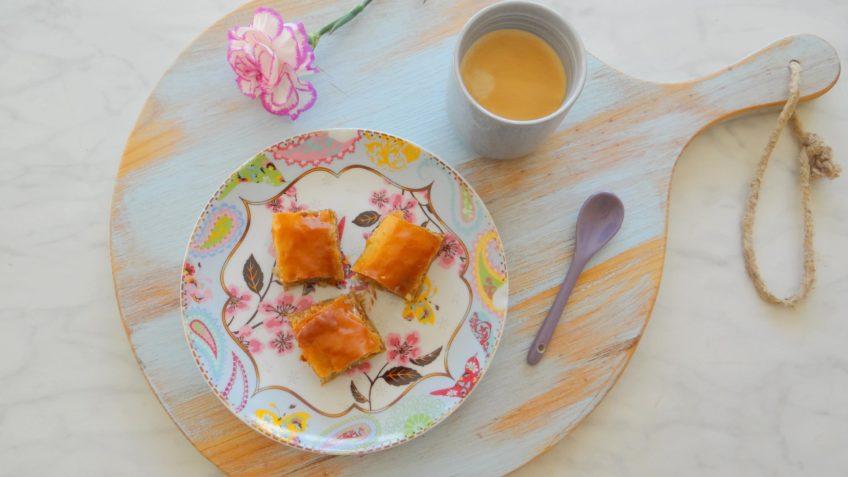 Walnoten en mandarijnen Baklava
