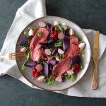 Beef salade met truffelaardappelen