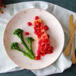 Zalm uit de oven met cranberrysaus