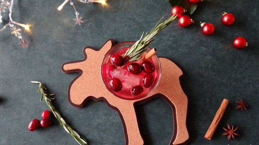 Cranberry ginger ale mocktail