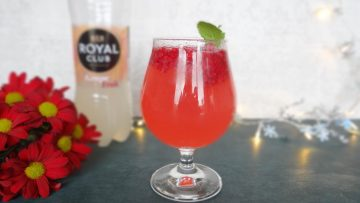 Frambozen grapefruit mocktail