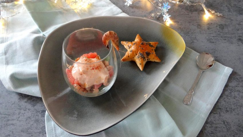 Hollandse garnalencocktail met grapefruit