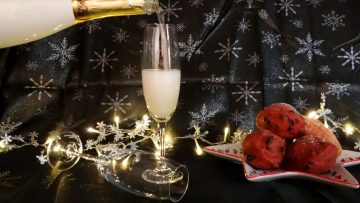 Met Champagne het nieuwe jaar in