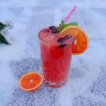 Cranberry bloedsinaasappel mocktail
