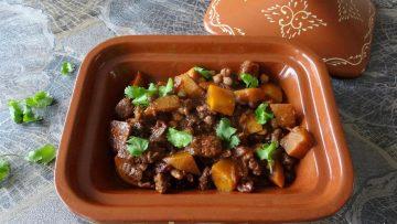 Tajine met rundvlees en pompoen