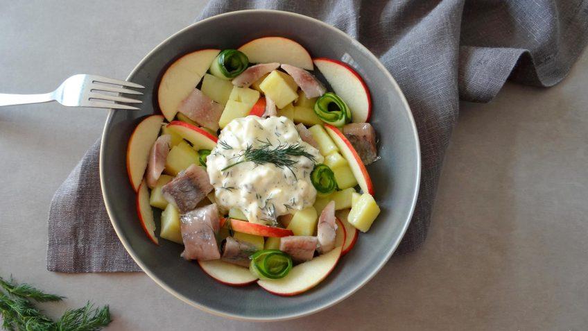 Aardappel haringsalade met mierikswortel