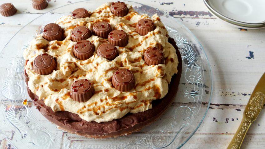 Chocolade pindakaas Reese taart