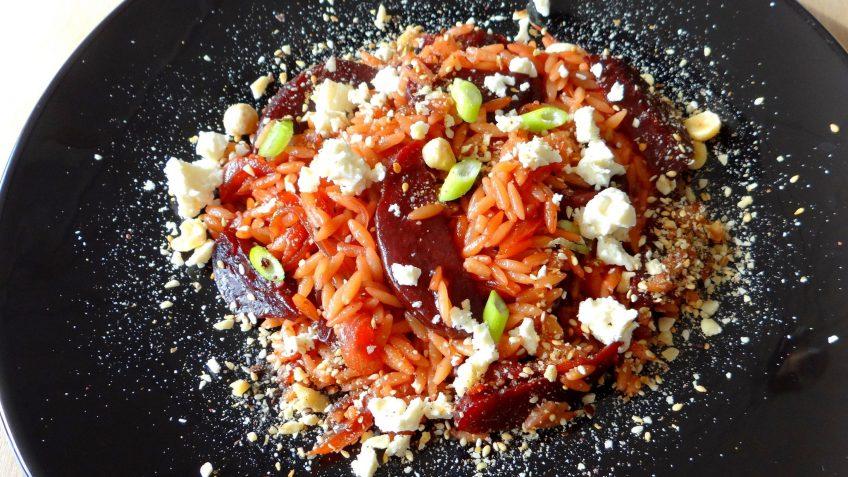 Rode bieten orzotto met balsamico