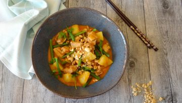 Thaise Massaman curry met kip
