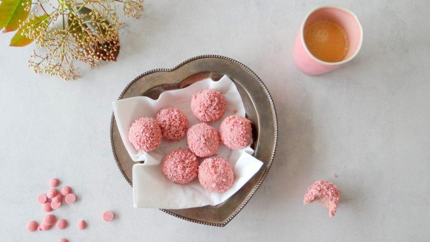 Ruby chocolade truffels