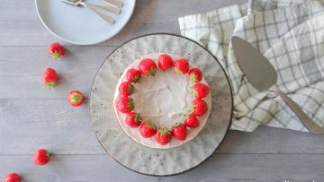 Aardbeien kwark taartje