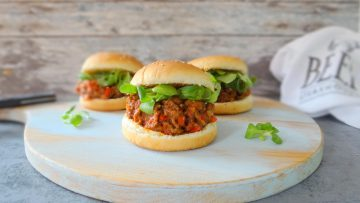 Amerikaans broodje Sloppy Joe