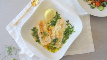 Grieks kabeljauwhaasje met citroen