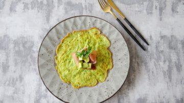 Groene mozzarella pannenkoekjes