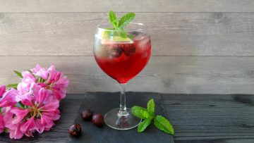 Kersen gin cocktail