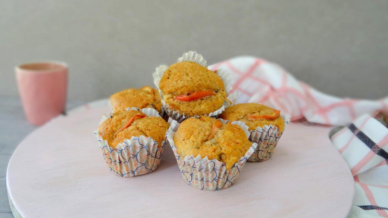 Appeltaart muffins met rozijnen