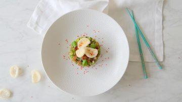 Aziatische haring tartaar met kroepoek
