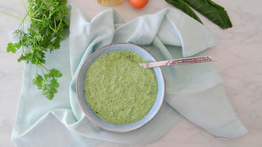 Groene kruidensaus uit Duitsland