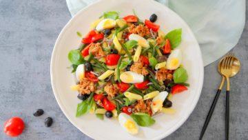 Niçoise pastasalade met tonijn