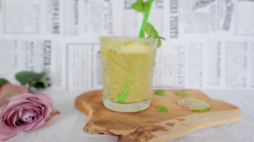 Ananas ginger ale mocktail